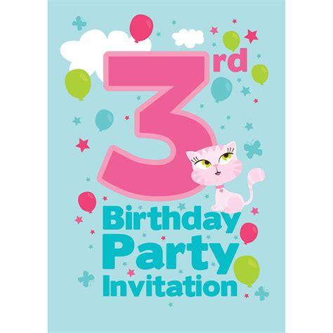 3rd birthday invitation vertabox