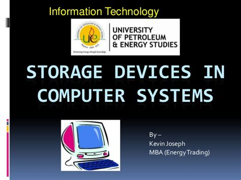Mba Computer Information Systems by Storage Devices In Computer Systems