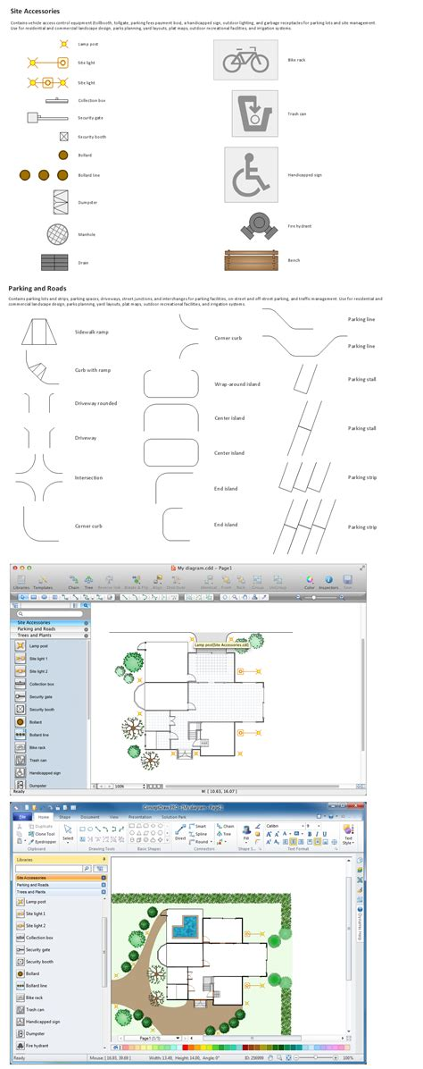 site planning software building drawing tools design element site plan
