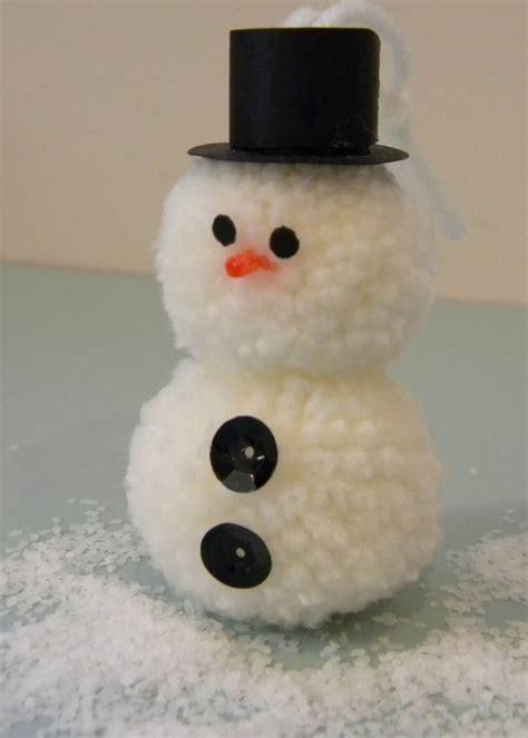 pom pom snowman ornament sew woodsy