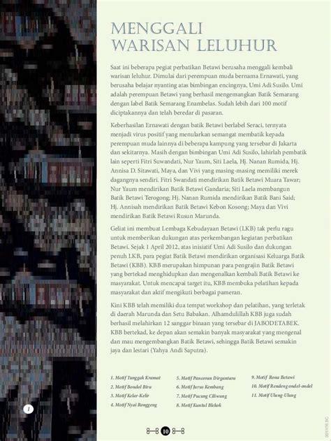 ciri khas dari format buku digital jual buku ragam rona kebaya oleh keluarga batik betawi