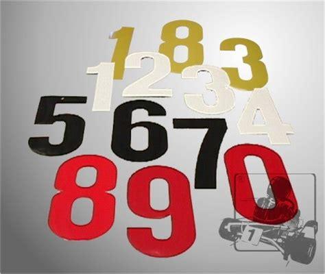 Racing Nummern Aufkleber by Nummer Aufkleber 0 Weiss Chassis Zubeh 246 R Startnummern