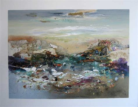 Modern Home Design Blog sold abstract seascape 30x40 mixed media on canvas