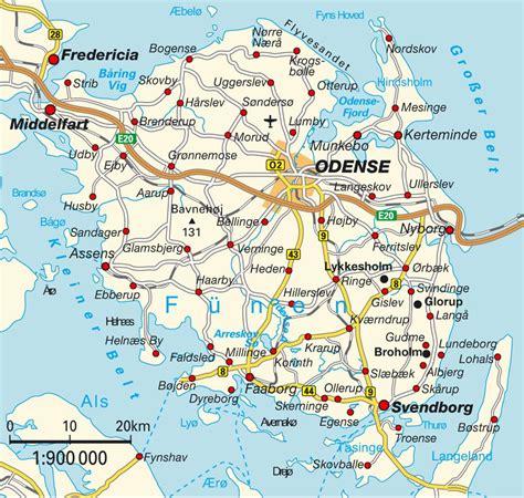 funen denmark island map funen syddanmark denmark maps and directions