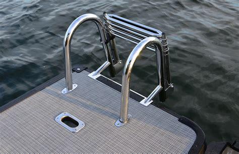 ski boat boarding ladder starcraft sls 5 sport review boat