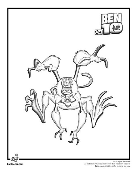 ben 10 coloring pages spider monkey spider monkey coloring pages coloring home