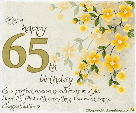65 Birthday Card Messages 65th Birthday Messages Dgreetings Com