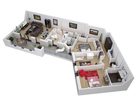 plan maison 3d d appartement 2 pi ces en 60 exemples plans 3d d appartements studios maisons plus immo