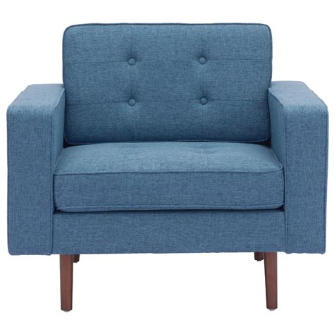 puget modern arm chair in blue accent chairs modgsi