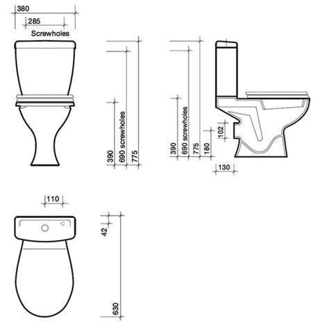dimensions of a dimension toilette standard obasinc