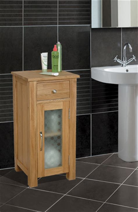 Free Standing Oak Bathroom Furniture Fusion Solid Oak Bathroom Storage Cabinet Cupboard Free Standing Small Unit Ebay
