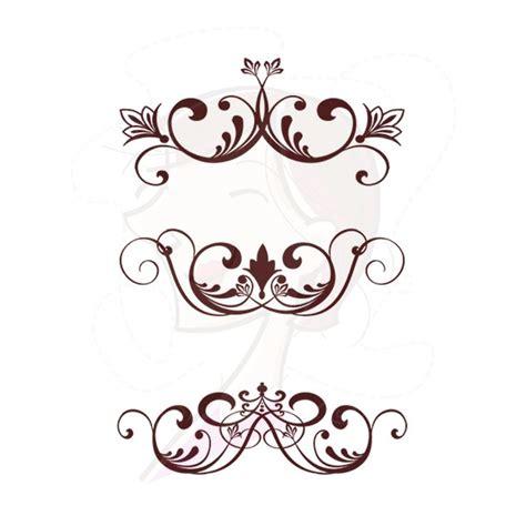 wedding small tent cards fleur de lis template free flourish images free clip free clip