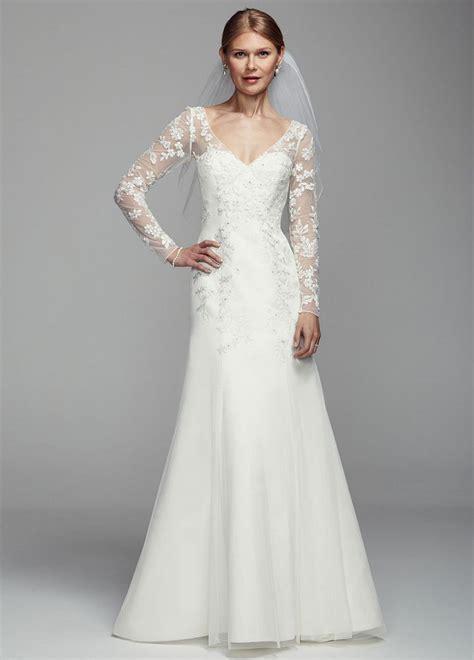 Wedding Dresses Sleeve by David S Bridal Illusion Sleeve Tulle Wedding Dress