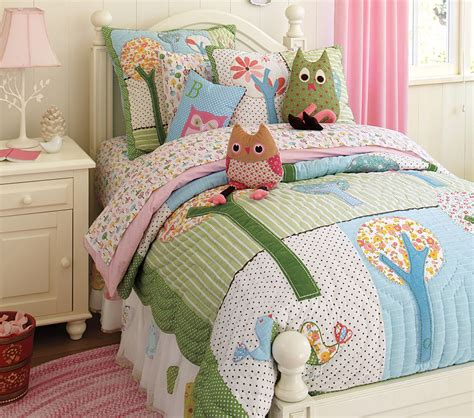 owl bedroom set pretty n peach pottery barn inspired quilt