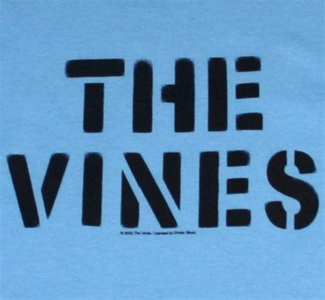 Tees Band The Vines Btv01 the vines stencil logo rudy