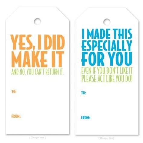 printable funny gift tags christmas funny homemade gift tags prints n tags pinterest