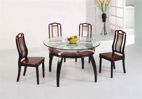 Glass Dining Room Table Sets | wooden dining table set glass top table discount dining
