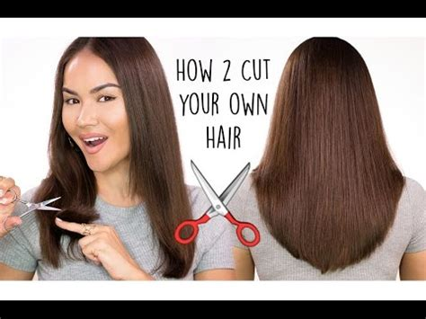 how to cut your own hair trim split ends youtube how to cut your own hair trim split ends doovi