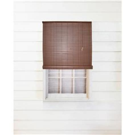 Outdoor Shades Home Depot by Chestnut Exterior Roll Up Patio Sun Shade With Valance