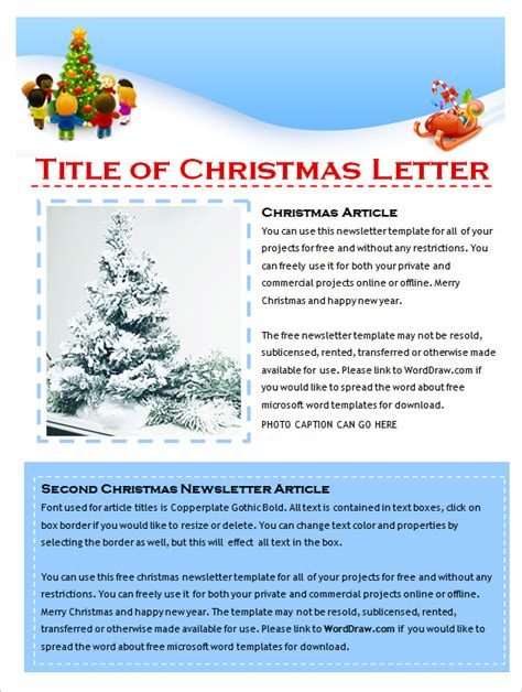 9 Holiday Newsletter Templates Free Word Documents Download Free Premium Templates Word Document Newsletter Templates Free