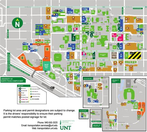 unt parking map unt parking map my