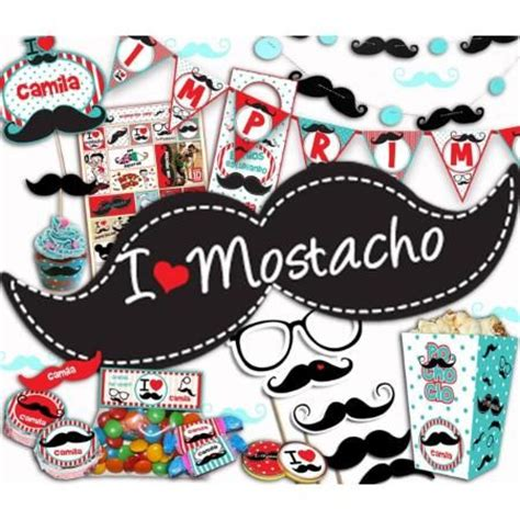 imagenes de mostachos kit imprimible fiesta mostacho celebraciones pinterest