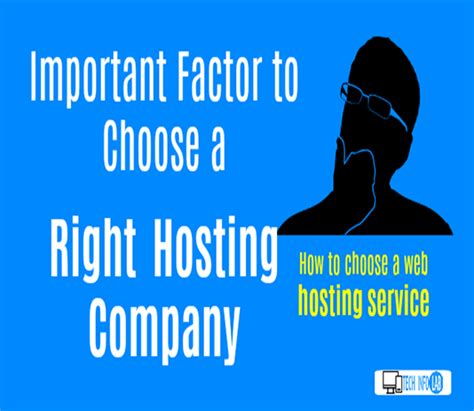 how to choose a web hosting service important factor to buy right hosting