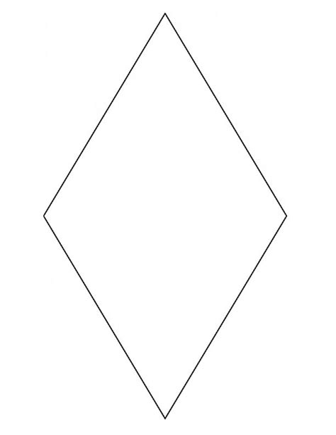 diamond coloring pages preschool 7 best images of large diamond shape printable diamond