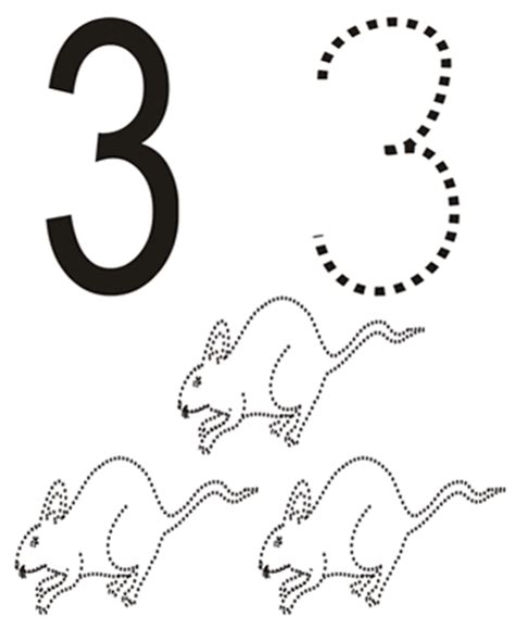 coloring page of number 3 coloring pages numbers 3 quot three quot
