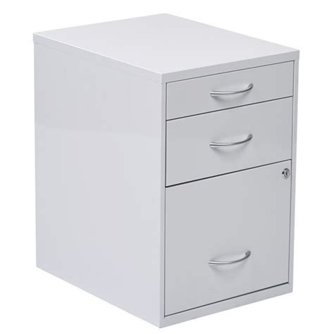 3 Drawer File Cabinet White 3 Drawer Filing Cabinet In White Hpbf11