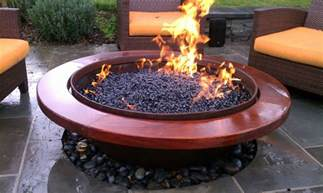 handmade outdoor gas pit by sawdust steel