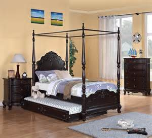 Canopy Bedroom Sets Homelegance Cinderella 3 Piece Canopy Poster Bedroom Set
