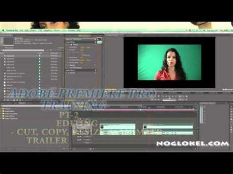 adobe premiere pro resize image adobe premiere training pt 2 editing cut copy