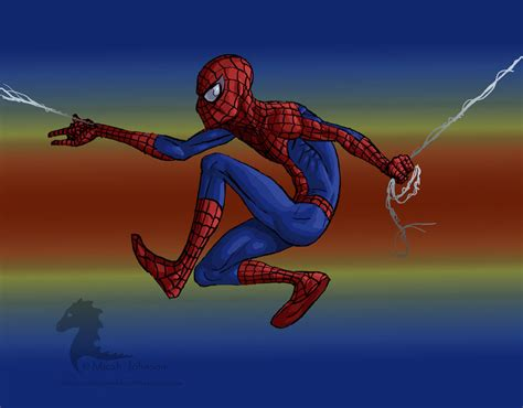 spiderman swings spider man swinging by bronze dragonrider on deviantart