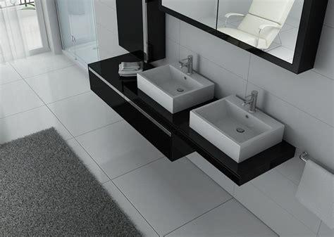Exceptionnel Meuble Salle De Bain Asymetrique #2: 7517-meuble-de-salle-de-bain-double-vasque-dis9551-noir.jpg