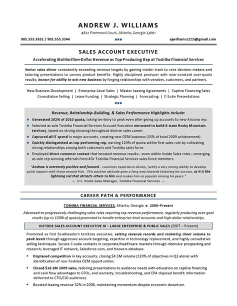 doc 500708 sales manager cv exle free cv template