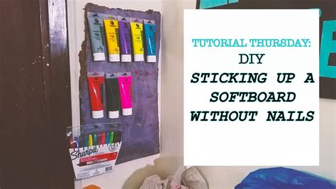 stick to wall without nails how to stick a soft board to a wall without nails diy