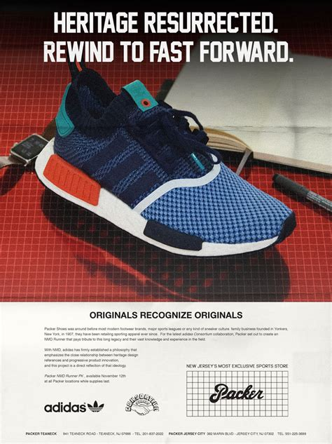 packer shoes recreates vintage ads for upcoming adidas nmd release sneakernews