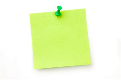Green Dino Sticky Notes Post Its green post it notes with pin clipart best