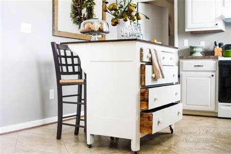 need more kitchen storage turn a dresser into an island