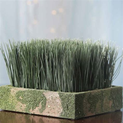 artificial wheat grass planter table and shelf sitters