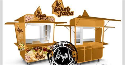Desain Gerobak Kebab | desain logo logo kuliner desain gerobak jasa desain