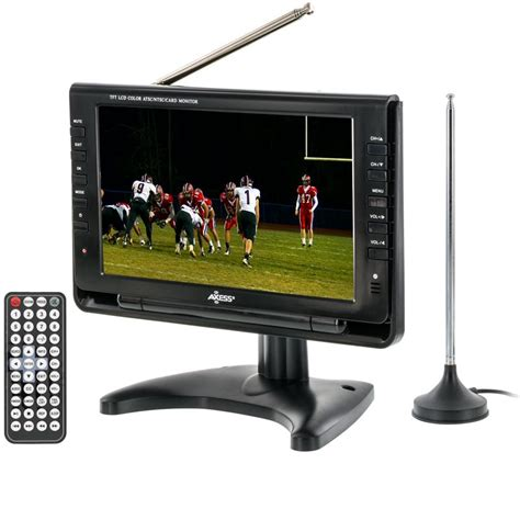 Tv Portable axess tv1703 9 9 quot rechargeable portable tv with atsc
