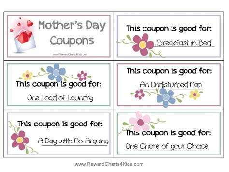 printable love coupons for mom free coupon book for mom customize online print at home