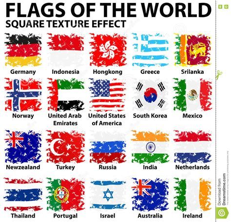 flags of the world poster poster design with flags of the world stock illustration