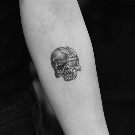 geometric tattoo tiny the coolest skull tattoos you ll ever see 50 photos