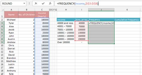 frequency table template how to make a frequency distribution table graph in excel
