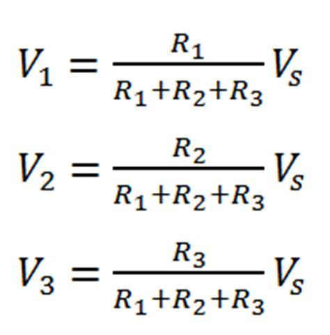resistor divider formula voltage divider rule