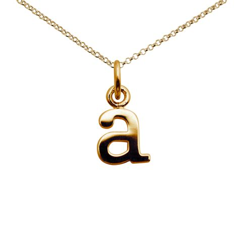 Gold letter a charm necklace from Lily Charmed