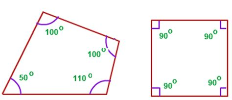 Quadrilateral Sum Of Interior Angles by Interior Angles Exles Of Interior Angles